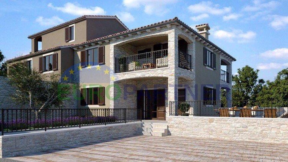Dvojna kuća u izgradnji, okolica Poreča
