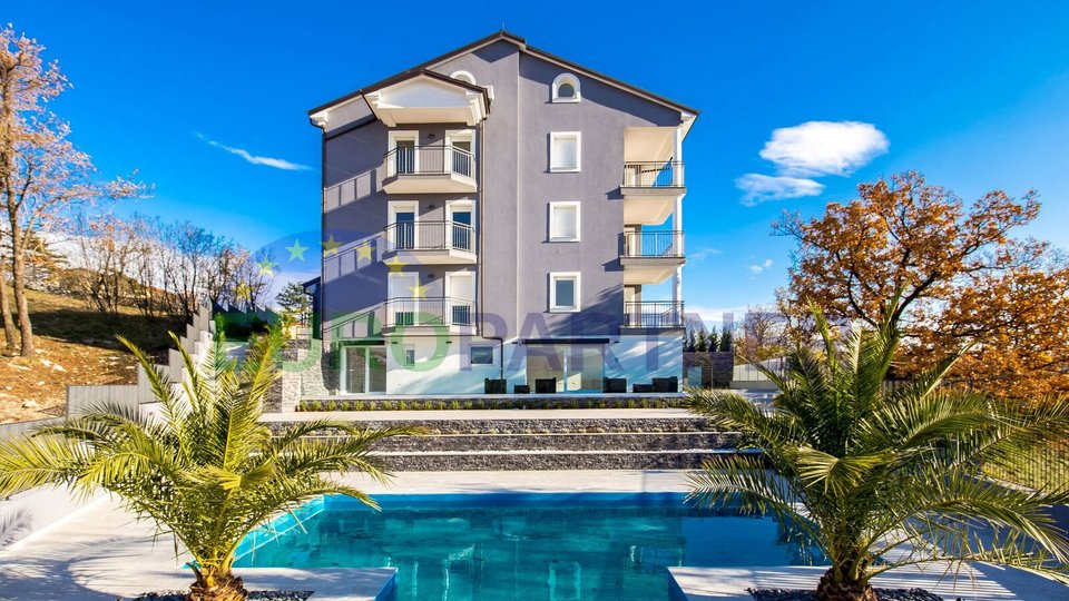 New built apartments with pool and sea view, near Opatija