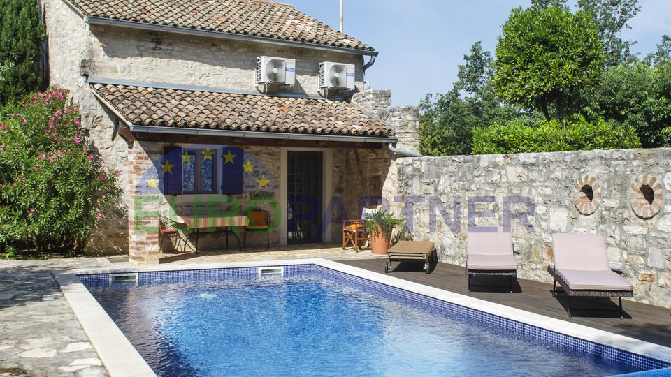 Two beautiful stone houses with swimming pool