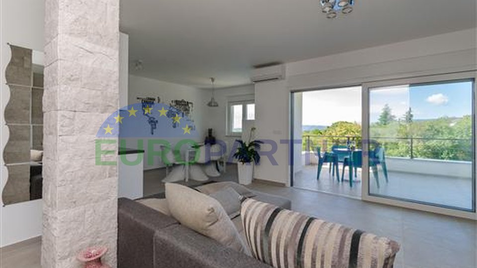 Modern villa surrounded by nature with a view of the sea, Krk