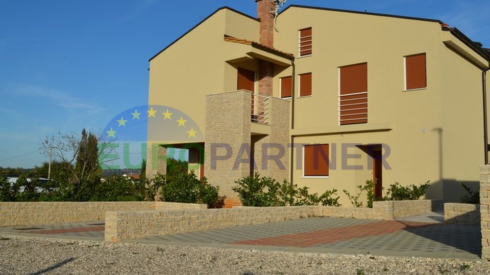 Newly built house with a garden, sea view
