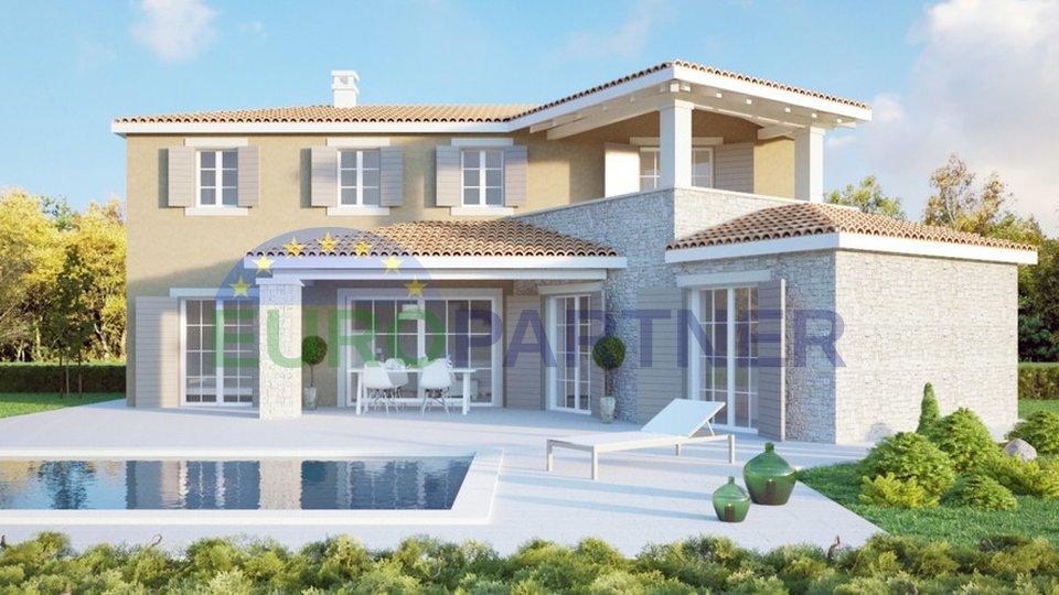 Villa con piscina in costruzione