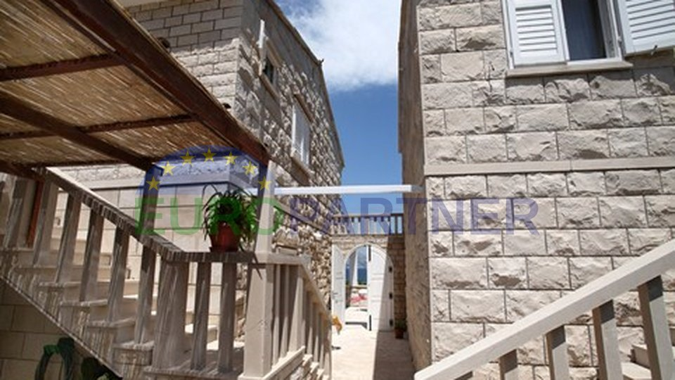 Traditional Dalmatian stone houses first row to the sea