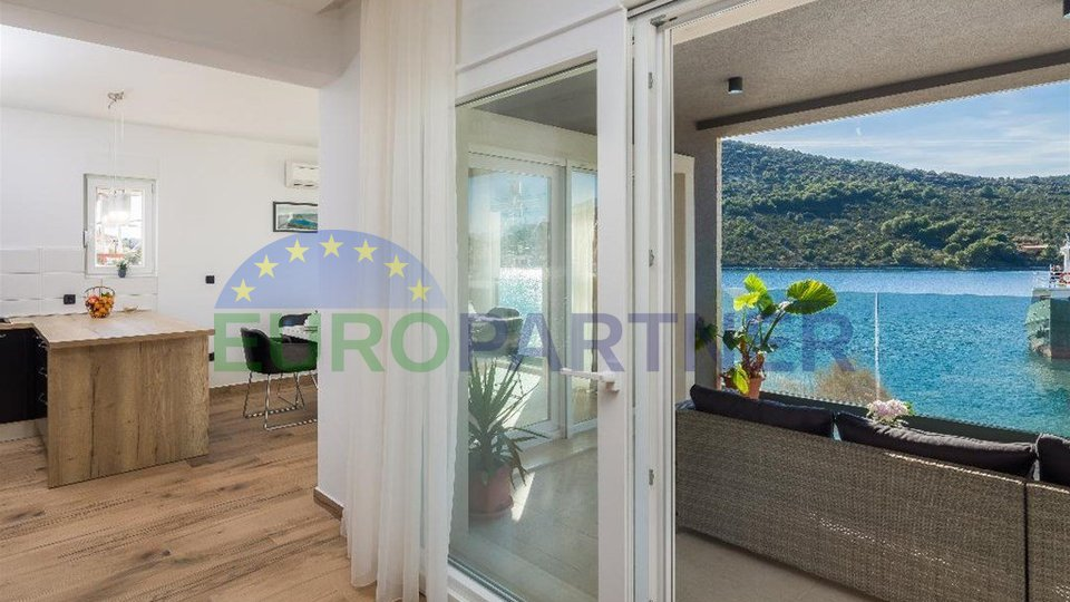 Luxury villa first row to the sea near Trogir