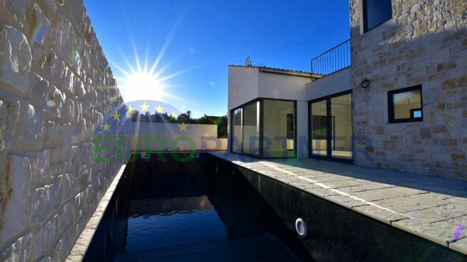 Newly built villa of modern architecture on the island Ugljan-Kukljica