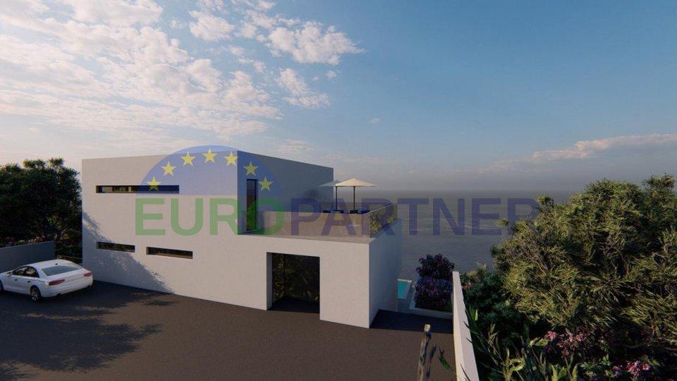 Prima fila al mare - terreno edificabile con soluzione concettuale per la villa Omis