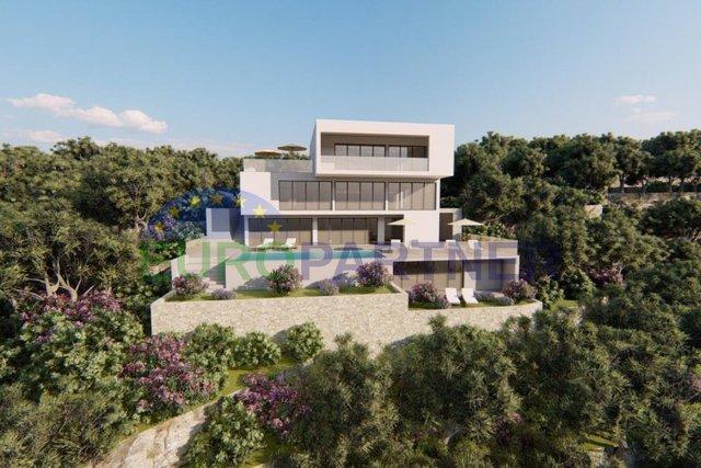 Prvi red do mora- građevinsko zemljište sa konceptualnim riješenjem za vilu- Omiš