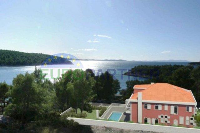 Zemljište sa građevinskom dozvolom i planom izgradnje za vilu, otok Brač-Milna