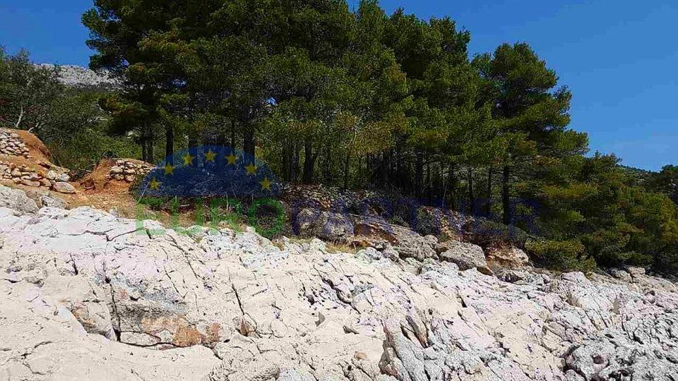 TOP LAGE-INSEL HVAR-erste Reihe zum Meer-Grundstück