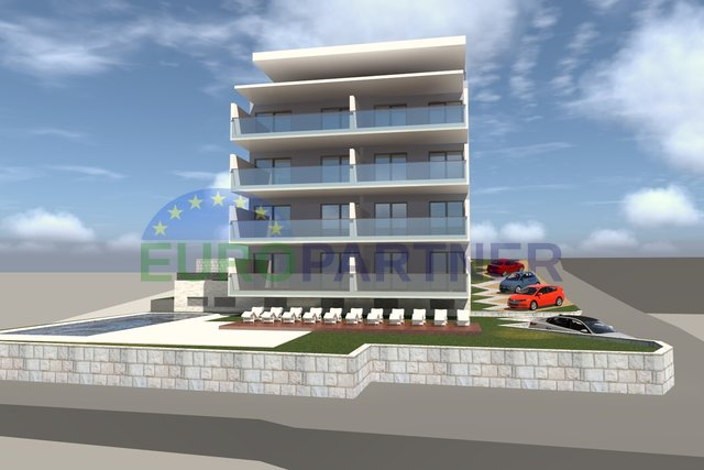 Newly built apartments near the sea