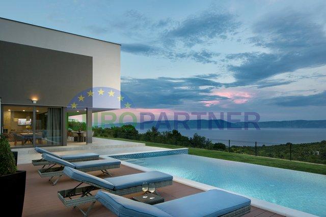 Luksuzna vila moderne arhitekture s otvorenim pogledom na more, Labin