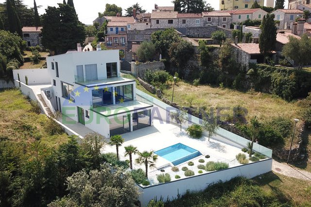 Sophisticated villa of modern architecture and design, Vrsar