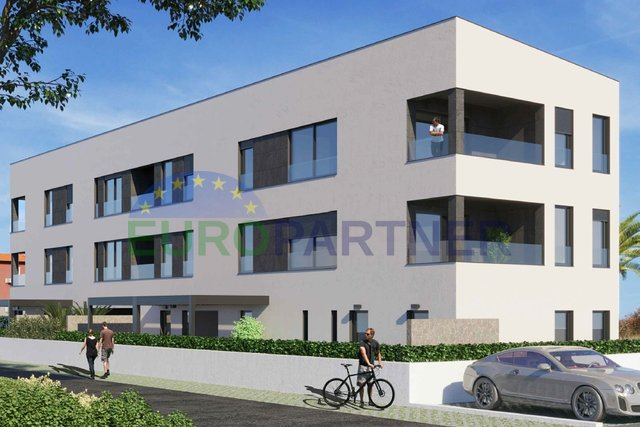 Modern apartment with sea view in construction phase, Novigrad
