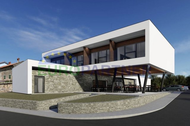 Inovativni građevinski projekat na zemljištu površine 23.642m2 sa Integralnim hotelom 5* i 7 modernih vila 5*, Kaštel-Buje