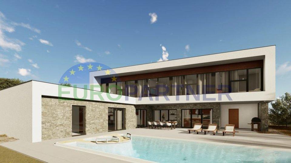 Un progetto di costruzione innovativo su un terreno di 23.642 m2 con Integral Hotel 5 * e 7 ville moderne 5 *, Kastel-Buje