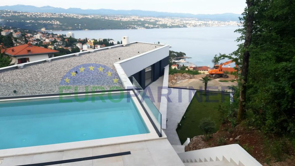 Unique modern villa with spectacular view of Opatija and Kvarner