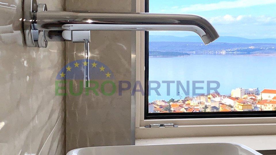 Nuovo edificio - Appartamenti moderni con vista sul mare aperto, piscina e ascensore, Crikvenica