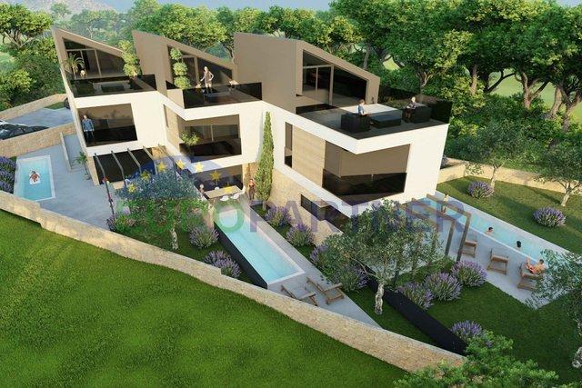 Moderna kuća zadnja u nizu, 300m od mora, Funtana