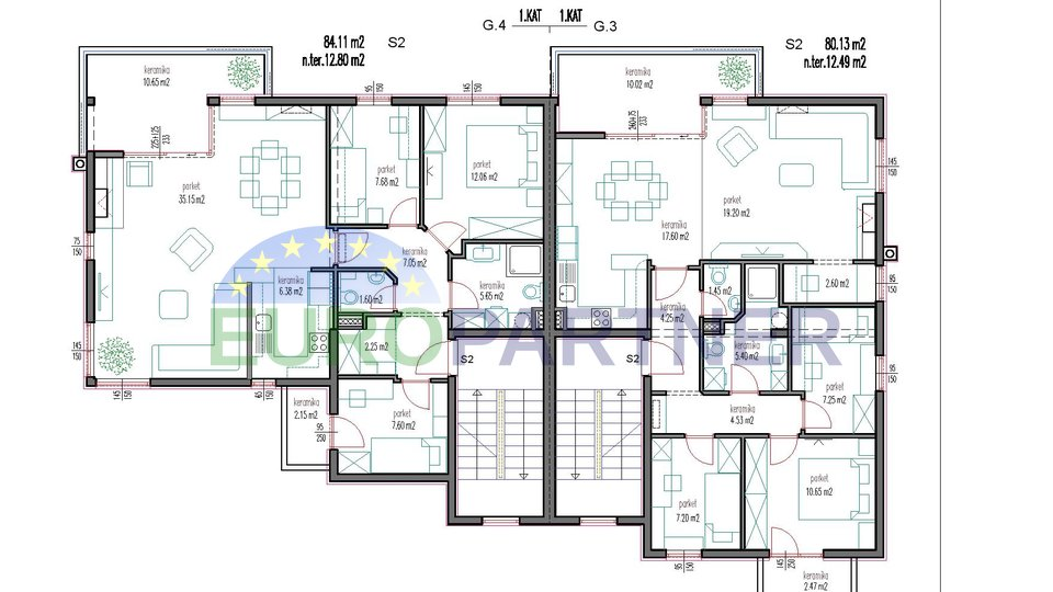 Stan 84 m2, novogradnja Strožanac