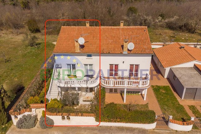 Part of a semi-detached house with apartments and a beautiful garden, near the town of Porec