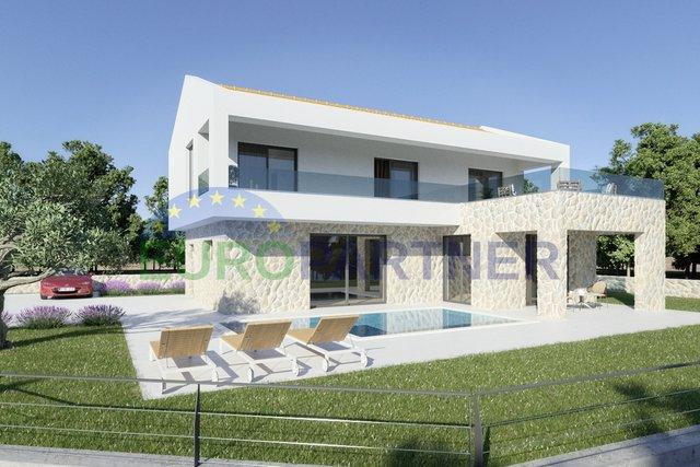 Villa near Labin, 3 bedrooms, pool, panoramic views of the island of Cres, Rabac and Rijeka