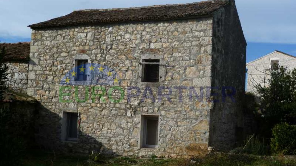 Old stone house near the town of Porec and the sea