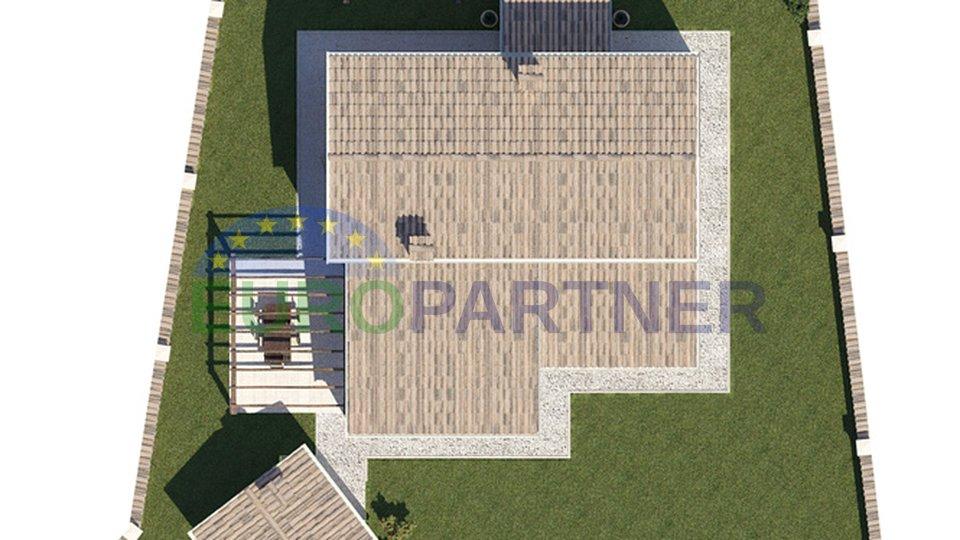 Tre terreni di costruzione con il progetto preliminare