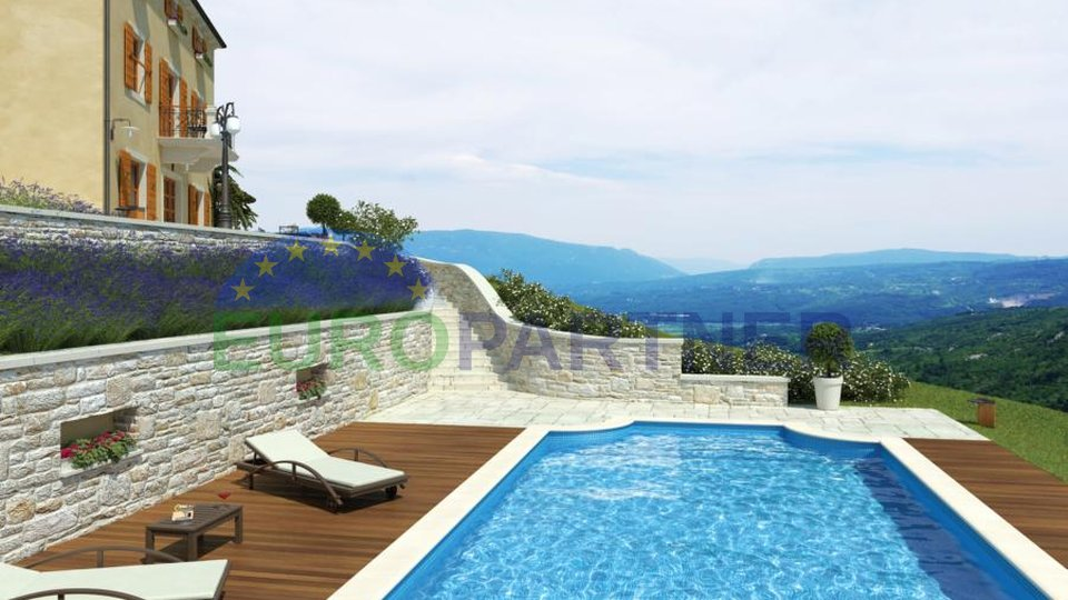 Building land in the most beautiful location of the interior of Istria